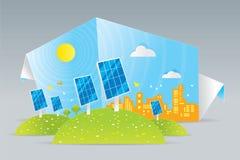 Eco solpaneler Royaltyfri Illustrationer