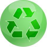 eco som återanvänder symbol Arkivbilder