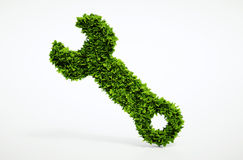 Eco spanner icon Stock Photo