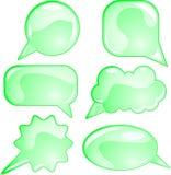 Eco speech bubble set Royalty Free Stock Photos