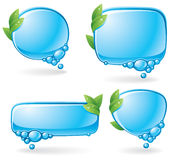 Eco speech bubble set Stock Photos