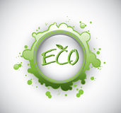 Eco splash stamp Royalty Free Stock Photo