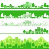 Eco Stadt Stockfotos