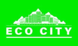 Eco-Stadtskyline lizenzfreie abbildung
