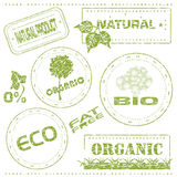 Eco stamps. Set of grungy eco stamps, vector illustration Royalty Free Stock Photo