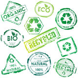 Eco stamps Stock Photography