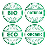 Eco stamps Royalty Free Stock Images