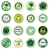 Eco sticker collection Royalty Free Stock Images