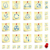 Eco Sticker Icon Set Royalty Free Stock Photography