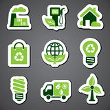 Eco sticker label Stock Images