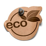 Eco sticker over white Royalty Free Stock Photo