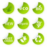 Eco Sticker Set Royalty Free Stock Images