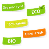 Eco Stickers. Isolated On White Background, Vector Illustration Royalty Free Stock Photos