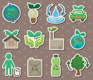 Eco stickers Royalty Free Stock Image