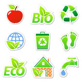Eco stickers Stock Image