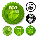 Eco stickers Stock Photography