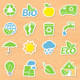 Eco Stickers Stock Images