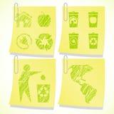 Eco sticky notes background Stock Photo