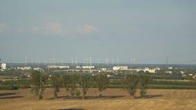 Eco ström elektricitet som frambringar turbinwind lager videofilmer