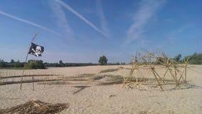 Eco strandkupol Royaltyfria Foton