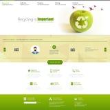 Eco strony internetowej szablonu wektoru ilustracja Fotografia Royalty Free