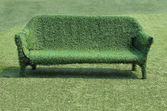 Eco style of grass sofa Royalty Free Stock Photo