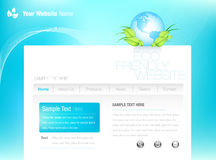 Eco-style Website. Website Template in Eco-Style Royalty Free Stock Image