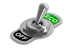 Eco Switch. A Colourful 3d rendered Eco Switch Concept Illustration vector illustration