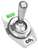 The eco switch Royalty Free Stock Photos