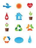 ECO-symbol. Set of characters on the theme of peace and ecology Royalty Free Stock Photo