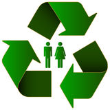 Eco symbol Fotografia Stock