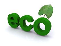 Eco symbol with leaf Stock Photography
