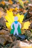 Eco symbol, ochrona środowiska pojęcie biel sezonowy oddzielony Zdjęcie Royalty Free