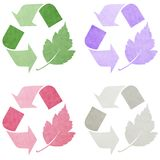 Eco Symbolansammlung stock abbildung