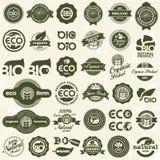 Eco symboler. Inställda ekologitecken. Royaltyfri Bild