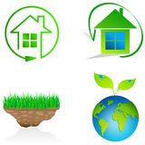 Eco symbols Stock Photo