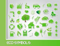 Eco symbols Royalty Free Stock Photo