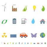 Eco symbols and icons Stock Photo