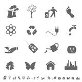 Eco symbols and icons Royalty Free Stock Photos
