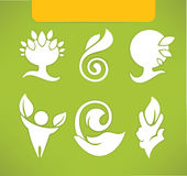 Eco symbols and icons. Ecological symbols and signs, in flat style Stock Image