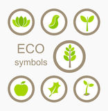 Eco symbols vector Royalty Free Stock Photo