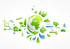 Eco-system. Green earth and ecological system Royalty Free Stock Photo