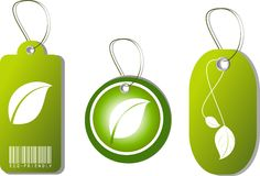 Eco Tags. Vector illustration of eco-friendly tags royalty free illustration