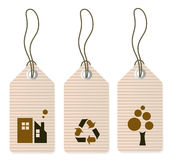 Eco tags set isolated on white Royalty Free Stock Images