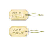 Eco tags set 1.4 Stock Photo