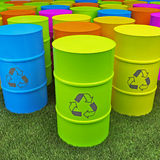 Eco tank. 3d of color eco tank Stock Images