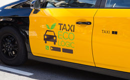 Eco Taxi in Barcelona Royalty Free Stock Photos