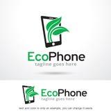 Eco telefon Logo Template Design Vector Royaltyfria Foton