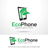 Eco telefon Logo Template Design Vector Vektor Illustrationer