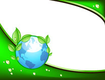 Eco template with globe Stock Images